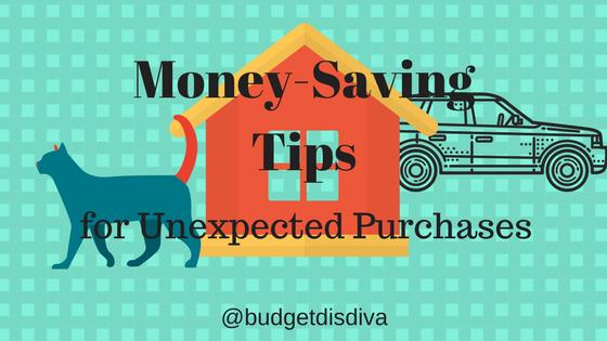 Money-Saving Tips for UnexpectedPurchases