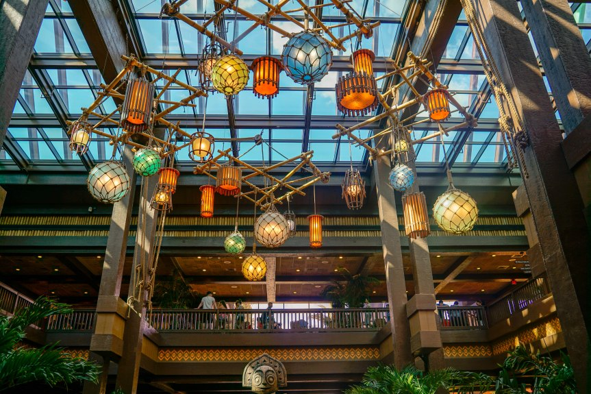 Lobby at the Polynesian Village Resort